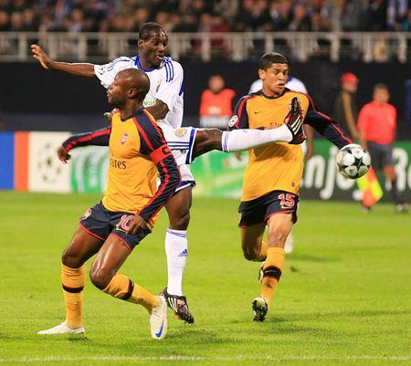 FC Dynamo (Kyiv)-Arsenal FC (London)-1:1 Champions League Group G game against Arsenal FC (London) on Wednesday, September 17, 2008 in Kyiv.  Ismael Bangoura