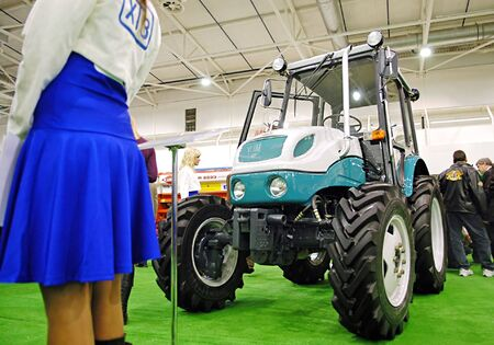 cultivator: KUIV, UKRAINE - FEBRUARY 13,: 10TH Ukraine international agricultural and horyicultual exhibition on Feb 13, 2007 in Kyiv, Ukraine Editorial
