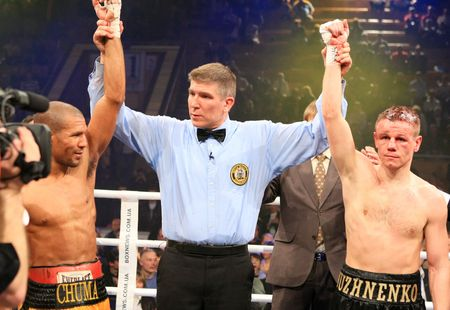 wba:  KIEV, UKRAINE - APRIL 19: WBA welterweight belt holder Yuriy Nuzhnenko  against Irving Garcia during their WBA World Welterweight Title fight on April 19, 2008 in Kyiv, Ukraine