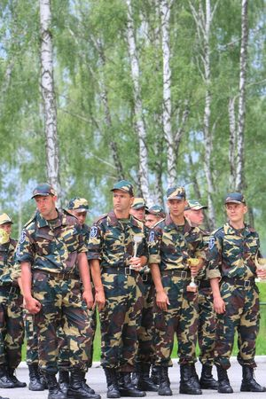berets:  KYIV, UKRAINE - JUNE 16: special troops soldiers pass maroon berets exam on June 16, 2008 in Kyiv, Ukraine