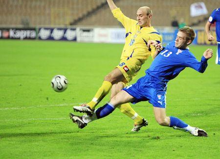 dynamo: KYIV, UKRAINE - OCTOBER 17: match between Ukraines and Faroe Islands national football teams on October 17, 2007 in Kyiv, Ukraine