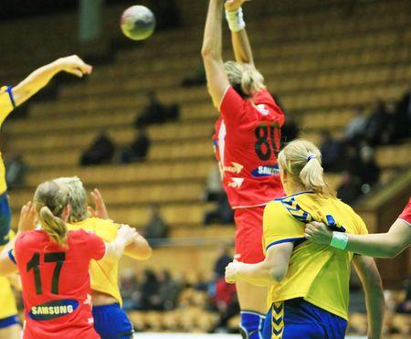 beetwen: KYIV, UKRAINE - NOV 23: handball match beetwen Ukrainian and Austrian national handball team on November 23, 2008 in Kyiv, Ukraine