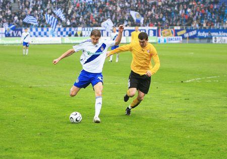 dynamo: KYIV, UKTRAINE - MACH 23: FC Dynamo Kyiv strikes against FC Kryvbas during their 22 round Ukrainian League match on March 23, 2008 in Kyiv, Ukraine