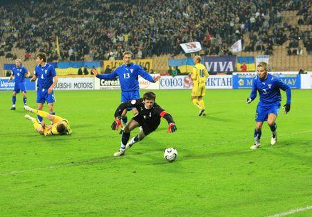 KYIV, UKRAINE - OCTOBER 17: match between Ukraines and Faroe Islands national football teams on October 17, 2007 in Kyiv, Ukraine