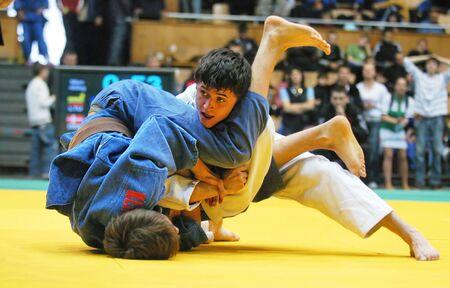 kyiv: KYIV, UKRAINE - MAY 13: International tournament category A of the European Judo Union among juniors  Typhoon on tatami on May 13, 2007 in Kyiv, Ukraine