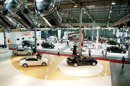 KYIV, UKRAINE - MAY 18: The II UAAID Kyiv Automotive Show 2007 was kicked off  at the KyivExpoPlaza exhibition centre on May 18, 2007 in Kyiv, Ukraine Stock Photo - 6891222