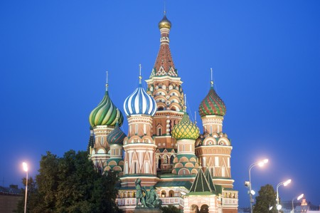 Saint Basils cathedral, Moscow. Russia photo