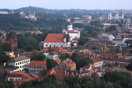 Vilnius - the capital of Lithuania, aerial view photo
