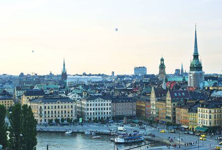 Aerial view of  Stockholm, Sweden photo
