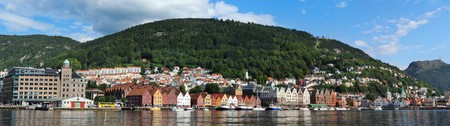Bergen harbor- gate to the fjord. Norway photo