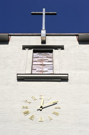 Detail of old  church clock  in Oslo, Norway Stock Photo - 7947864