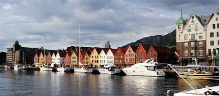 Bergen harbor - gate to the fjord. Norway Stock Photo - 8038142
