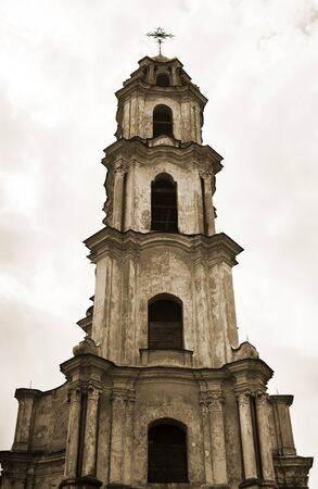 Old abandoned church in Vilnius old town, Lithuania photo
