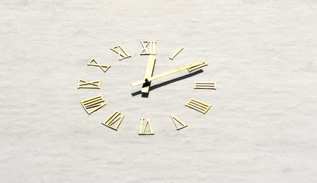 Detail of old  church clock  in Oslo, Norway Stock Photo - 8181132