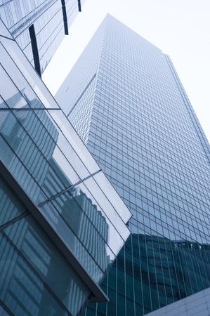 financial district: Modern skyscraper in Singapore, Singapore Stock Photo