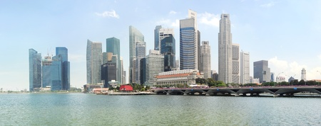 xxxl: Panorama of Singapore in the sunshine day
