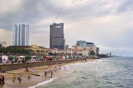 Colombo, Sri Lanka - Feb 22, 2011: Embankment of  Colombo. Colombo is the largest city and former capital of Sri Lanka.