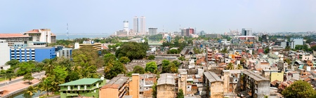 colombo: panorama of Colombo- the capital of Sri Lanka