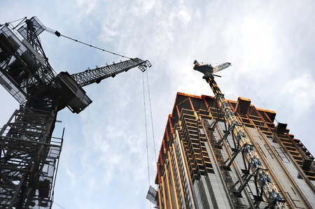 Construction site of big skyscrapers in Kuala Lumpur Stock Photo - 9723016