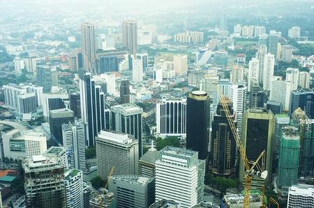 Aeial view of Kuala Lumpur photo