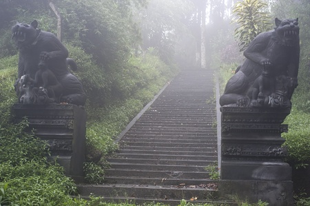 Ancient entrance to Balinese Temple. Bali island photo