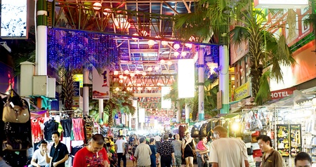 Kuala Lumpur, Malaysia - March 30, 2011: Petaling Street or known as Chinatown among tourists is the centre of Kuala Lumpurs original Chinatown. The street is also affectionately known as PS among locals