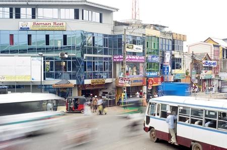 Ambalangoda, Sri Lanka - January 28, 2011: Heavy duty traffic in the streets ofAmbalangoda - is a coastal town in southern Sri Lanka.