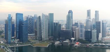 Panorama of Singapore from Marina Bay Sand Resort  photo