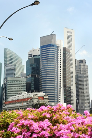Skyline of Singapore in the sunshine day photo