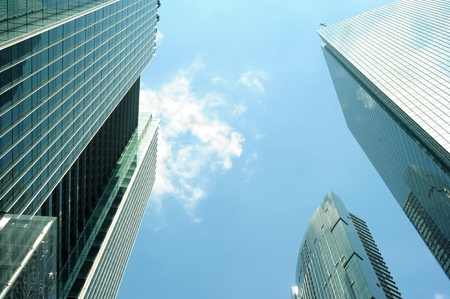 high rise building: Modern skyscraper in Singapore, Singapore Stock Photo