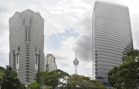 Skyscrapers and television tower in Kuala Lumpur, Malaysia