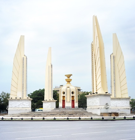 The Democracy Monument (Thai: Anusawari Prachathipatai) is  a public monument in the centre of Bangkok, capital of Thailand photo