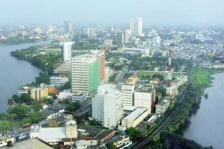 Aerial view of Colombo from Colombo World Trade Centre Stock Photo - 10810635