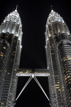 Petronas Twin Towers in Kuala Lumpur, Malaysia Editorial