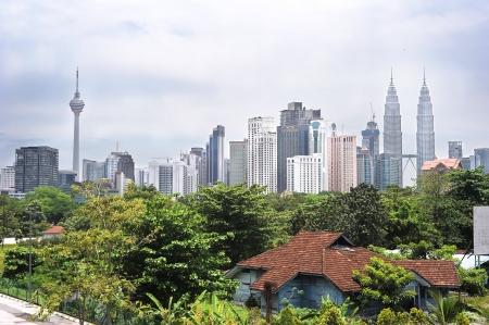 촉각 근: 쿠알라 룸푸르의 파노라마. 말레이시아 스톡 사진