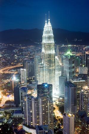 Panorama of Kuala Lumpur from KL Tower in the night. Malaysia