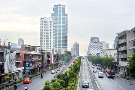 Bangkok, Thailand - March 26, 2011: Bangkok highway and streets in the morning.