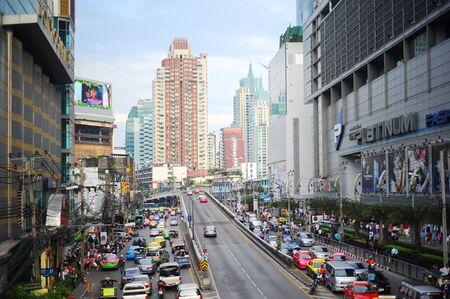 Bangkok, Thailand - March 26, 2011: Bangkok highway and streets during rush hour.