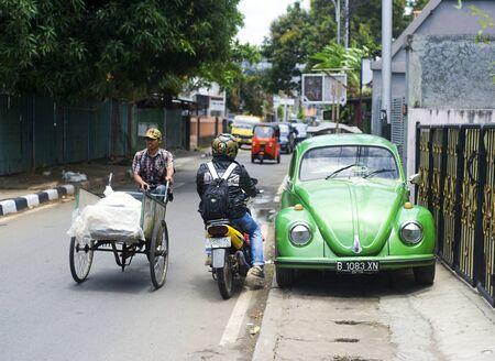 Jakarta, Indonesia - April 03, 2011: Urban traffic on Jakarta street