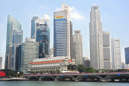 Singapore, Republic of Singapore - May 05, 2011: Panorama of Singapore. Singapore has long been recognised as one of the best cities for business.