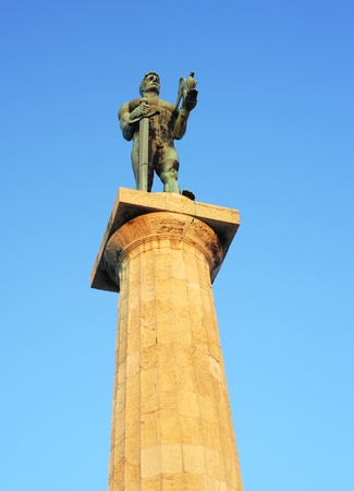 Statue of the Victor or Statue of Victory  is a monument in the Kalemegdan fortress in Belgrade, erected on 1928 to commemorate the Kingdom of Serbias war victories over Ottoman Empire photo