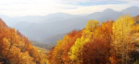 xxxl: xxxl panorama of a Balkan Mountains in the fall