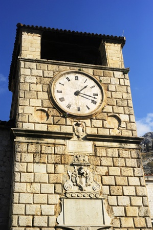 Clock Tower in Kotor, Montenegro. Kotor has one of the best preserved medieval old towns in the Adriatic  photo