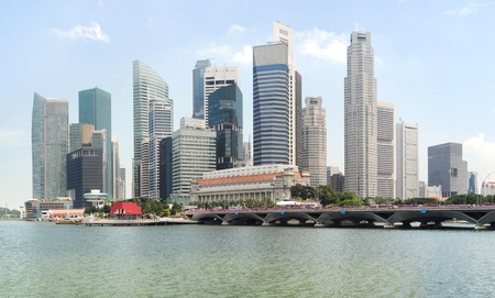 Panorama of Singapore in the sunshine day photo