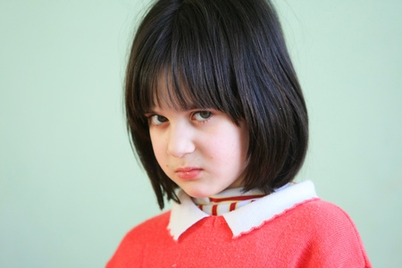 outcast: Kiev, Ukraine - February 21, 2008: Unidentified girl at Shelter for Minors. Of Ukraine�s nine million children some 65,000 live in state-run children�s institutions such as orphanages, boarding schools and shelters.