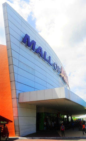 Manila, Philippines - April 03, 2012: SM Mall of Asia (MOA) is a shopping mall in Manila. SM Mall of Asia is the 2nd largest mall in the Philippines and the 4th largest shopping mall in the world. It has a land area of 42 hectares and has a gross floor ar