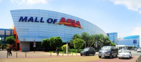 manila: Manila, Philippines - April 03, 2012: SM Mall of Asia (MOA) is a shopping mall in Manila. SM Mall of Asia is the 2nd largest mall in the Philippines and the 4th largest shopping mall in the world. It has a land area of 42 hectares and has a gross floor ar
