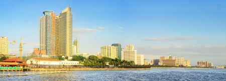 manila: Metro Manila Bay at sunset. Philippines Stock Photo