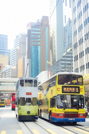 HONG KONG - MAY 22: Public transport on May 22, 2012 in Hong Kong. Over 90% of the daily journeys are on public transport, making it the highest rate in the world.