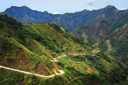 Road in Cordillera Mountains, Luzon, Philippines photo